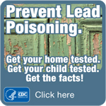 Prevent Lead Poisoning Button