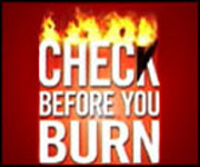 Burning logo image for check before you burn