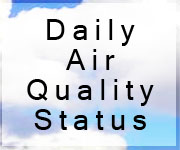 cloudy picuture with Daily Air Quality Text on it